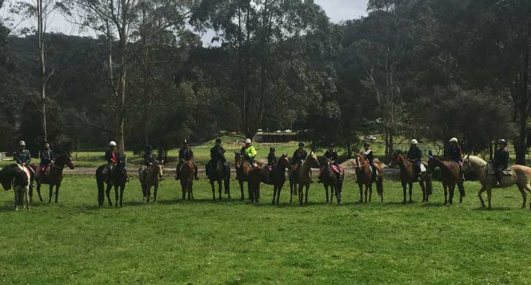 Young riders at a HorsePower Riding event.