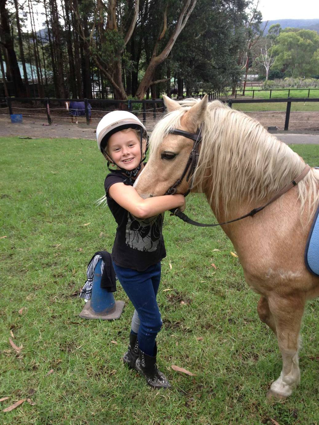 A young rider with a pony at HPRA.