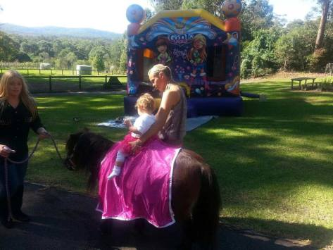 Sandie can arrange children's horsey birthday parties at HPRA or she can take the ponies to you.