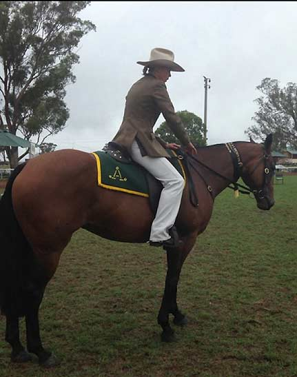 Sandie Gleeson, owner and principal riding instructor at HPRA, won Australian Stockhorse Champion with Shadow Rain in 2014.