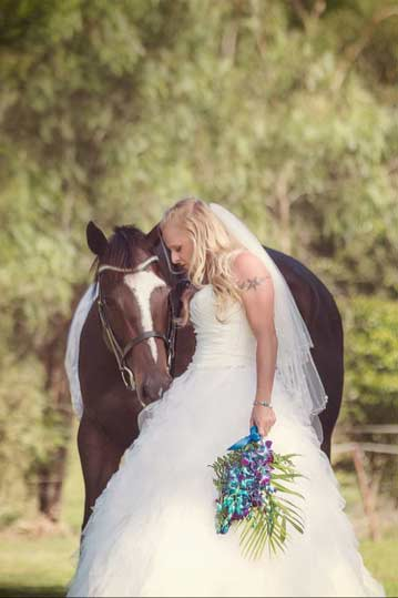 HPRA can provide horses for memorable wedding photographs. Photo © Jodie Andrews Photography.