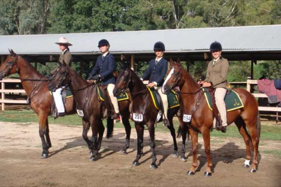 Sandie and some of her students competing in a show.