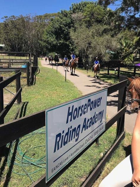 HPRA riders heading out of the property