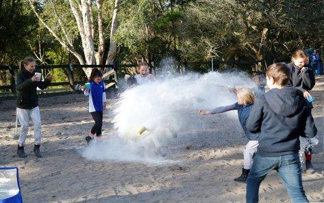 Flour fight fun